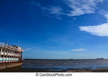 boat with sea in Bangpu , Thailand