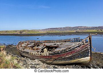 Boat wreck - Croig - Isle of Mull - Inner Hebrides of...