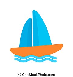 Boating - Boat, water, yacht, boating, sports icon vector...