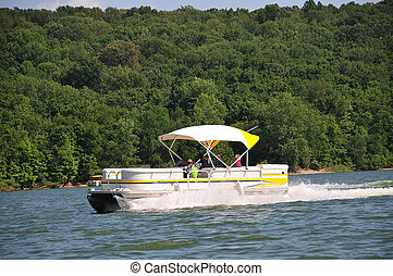 boating, em, indiana, eua