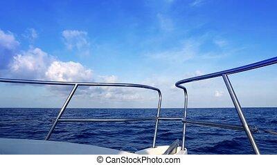 Boating in blue ocean sea view