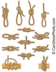 boating knots - set of boating knots