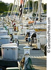 Boating Theme - Vertical Photo of Small American ...