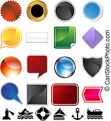 Boating Variety Set - Boating variety set isolated on a...