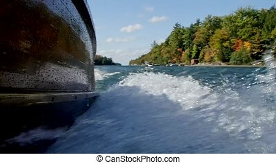 Boating Waves - boating waves from outside the boat