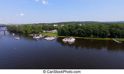 Boats Along The CT River - This is a shot from my drone of...