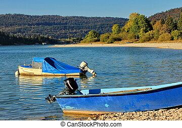 boats and lak
