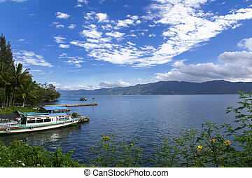 Boats and Lake.