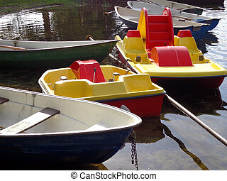 Boats and paddle boats
