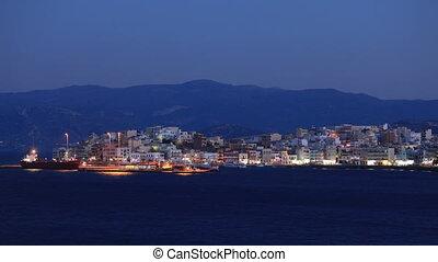Boats and small islands, Agios Nikolaos, Crete