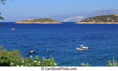 Boats and small islands, Agios Niko