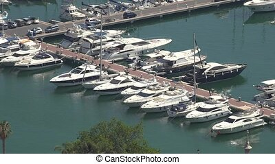 Boats And Yachts In Harbor