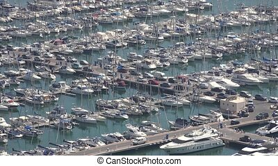 Boats And Yachts In Marina Or Harbor