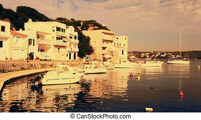 boats and yachts in the beautiful blue crystal sea, and...