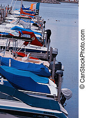Boats at a marina - Boats at marina