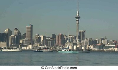 Boats at anchor - Auckland Harbour.