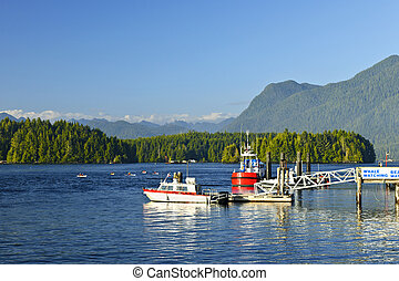 Boats at dock in Tofino, Vancouver Island, Canada - Boats at...