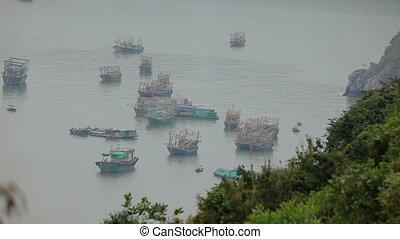 Boats at Ha Long Bay