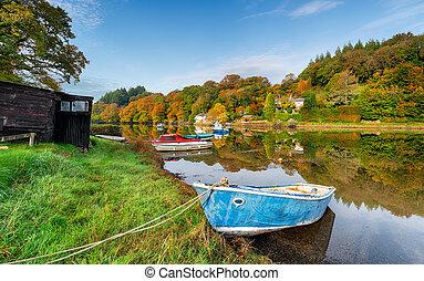Boats at Lerryn
