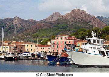 Boats At Porto Azzurro, Elba Island, Italy