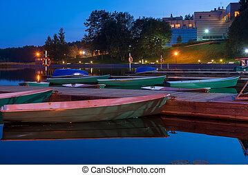 Boats at the Marina night