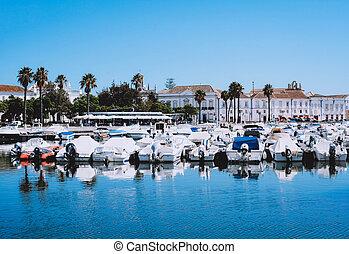 Boats at the marina of Faro.