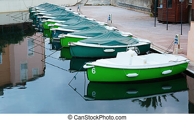 Boats at the pier in Port Grimaud, France