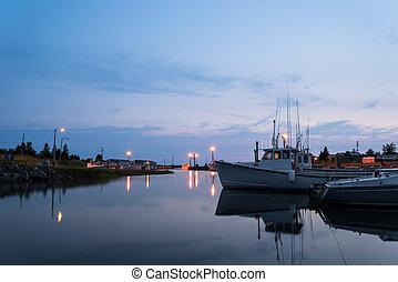 Boats at wharf (Nova Scotia, Canada)