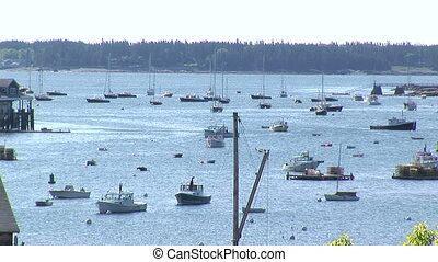 Boats docked in Maine