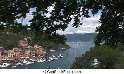 Boats docked in Portofino