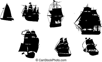 Boats in vector