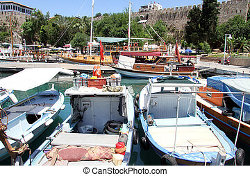 Boats in Antalya, Turkey