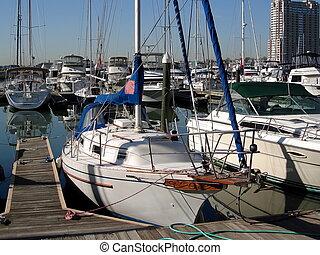 Boats in Baltimore Inner Harbor 001