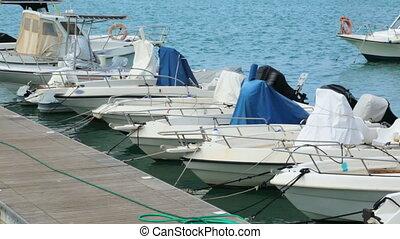 Boats in bay in Italy