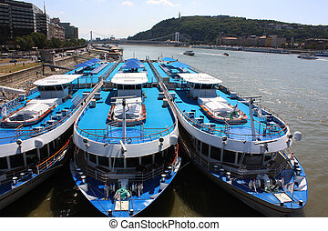 Boats in Budapest