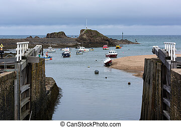 Boats in Bude Harbour