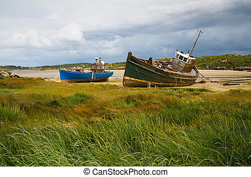 Boats in Donegal, Ireland.
