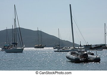 Boats in Guadeloupe