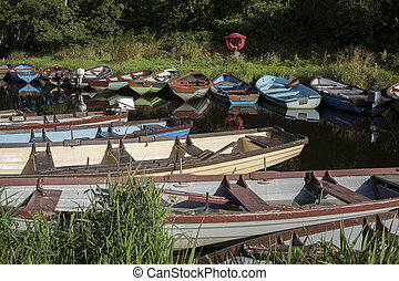Boats in Killarney National Park, County Kerry