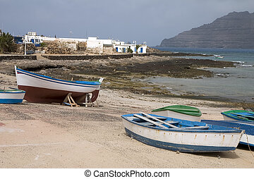 Boats in La Graciosa