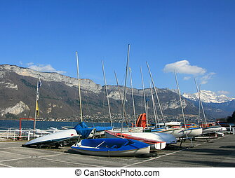 Lake Annecy - Boats in Lake Annecy, France