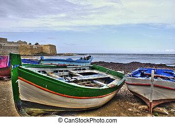 Boats in the marina of trapani. Sicily