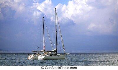 Boats in Tuscan Sea