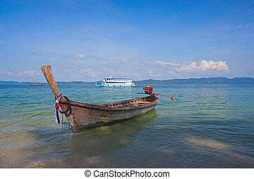 boats near shore