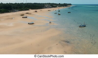 Boats of Beach Sands and Water