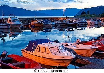 Boats on a moorage