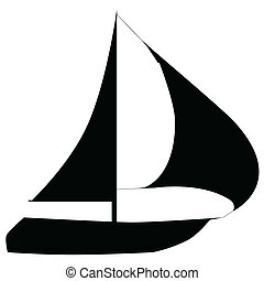 boats on a white background. - Illustration of silhouettes...