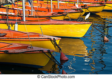 harbor - boats on an anchor in harbor