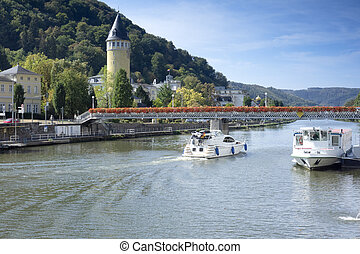 Boats on Lahn River