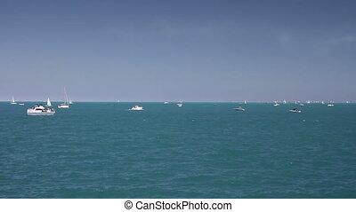 Boats on Lake Time Lapse - Time lapse of the boats on Lake...